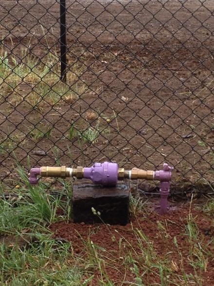 Re-cycled water meter