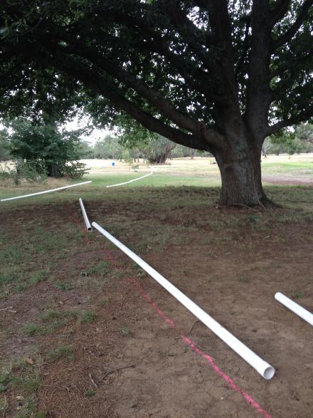 pipe and line laid out